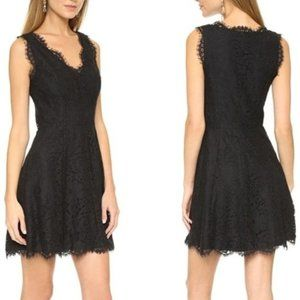 Joie Nikolina Black Lace Fit and Flare Dress